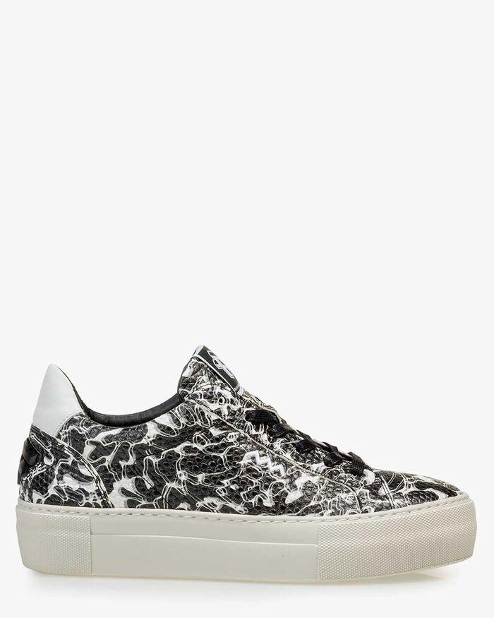 Sneaker leather black/white