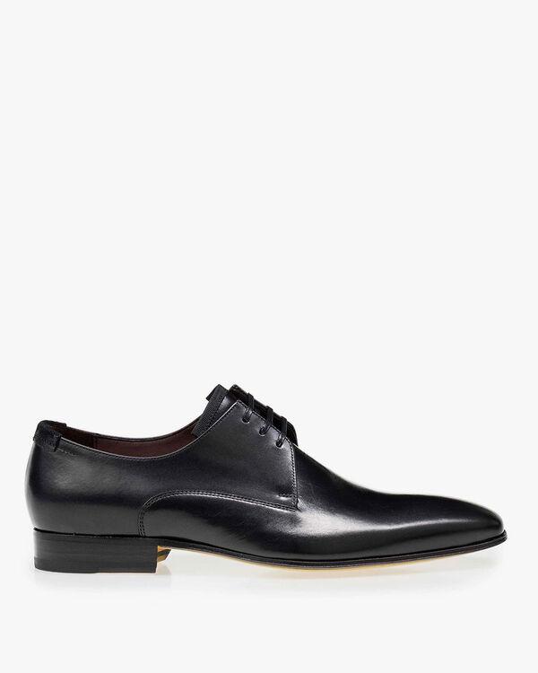 Lace shoe calf leather black