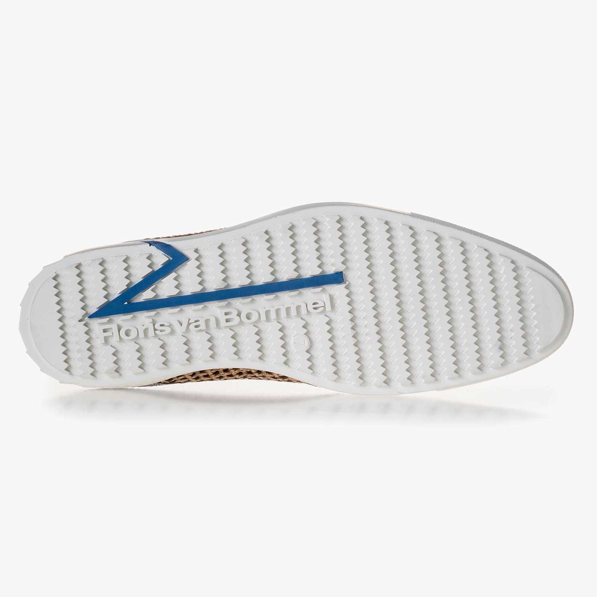 Premium blue braided leather sneaker