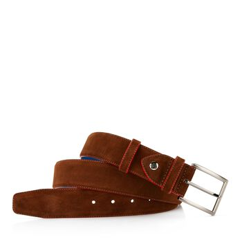 Belt suede leather brown