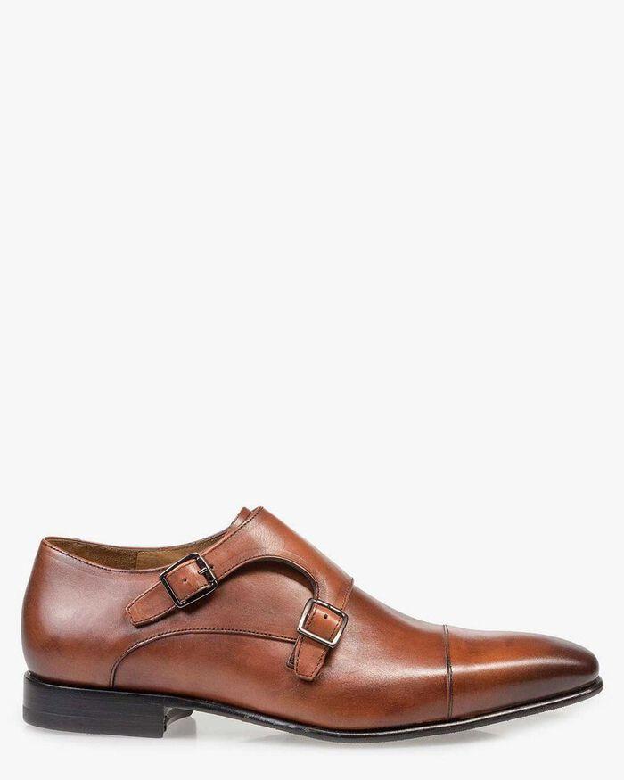 Cognac leather monk strap