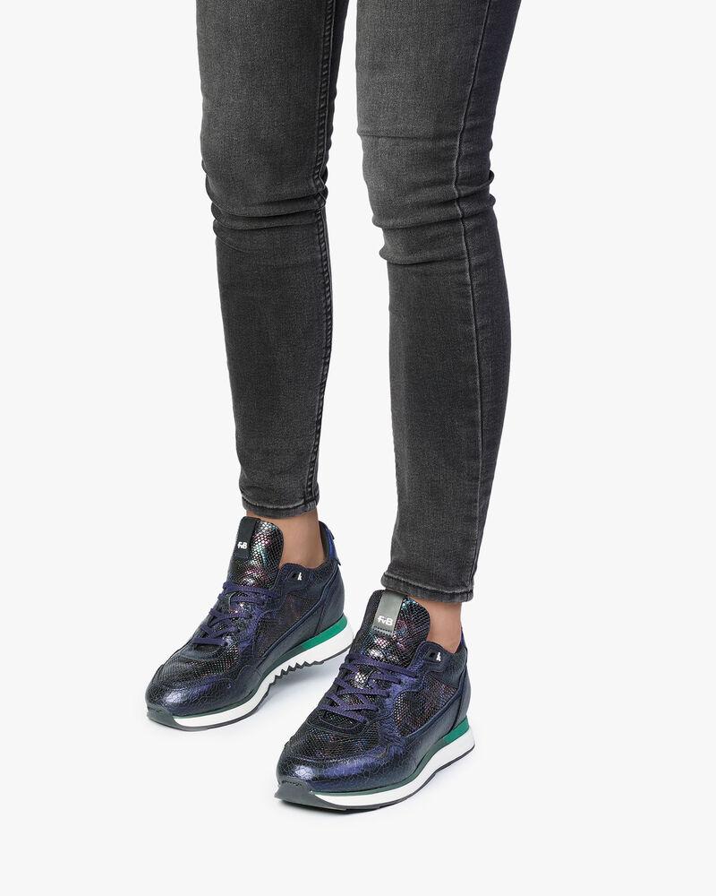 Sneaker dark blue leather