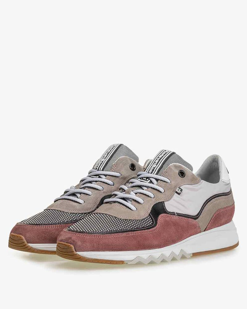 Nineti suede leather pink