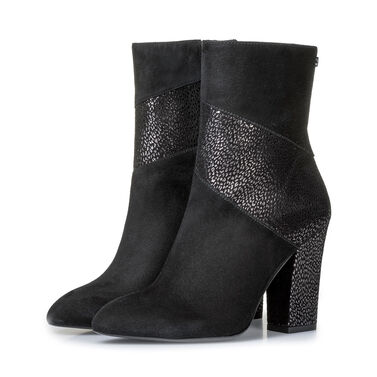 Ankle boots with metallic print