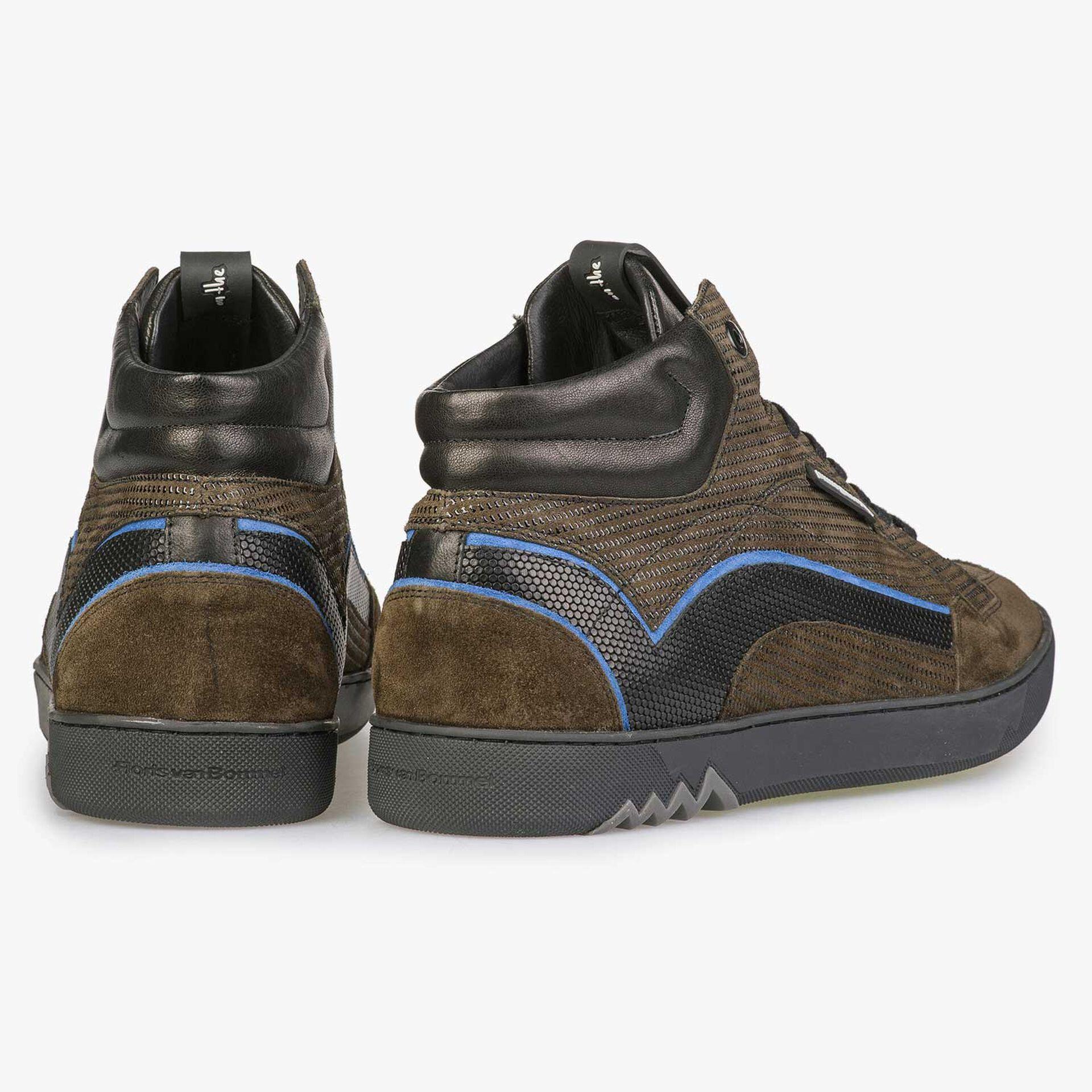 Mid-high sneaker cobalt blue