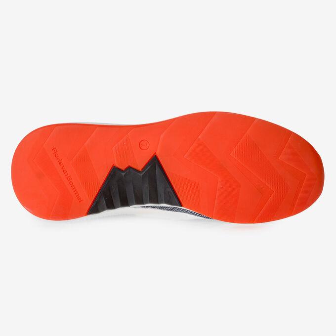 Premium orange and black suede leather sneaker