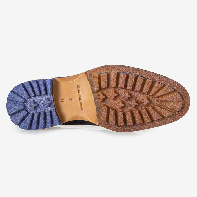 Crepi boot blue suede leather