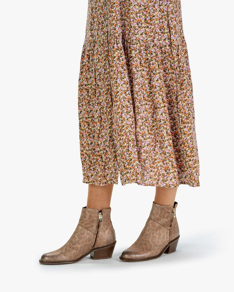 Ankle boot metallic orange