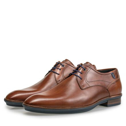 Calf's leather lace shoe with rubber outsole