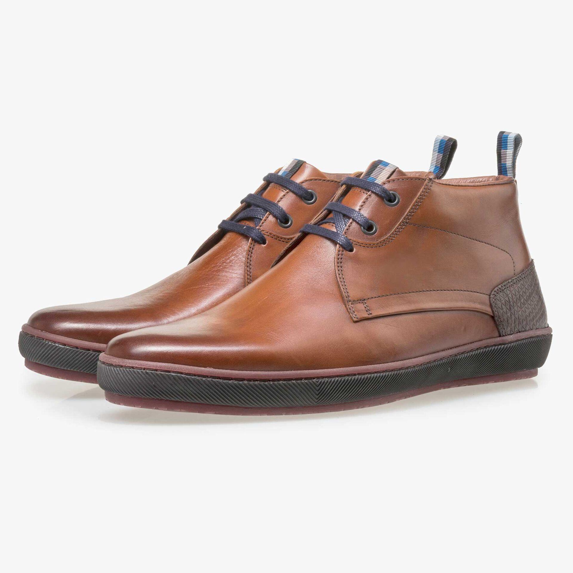 Floris van Bommel men's cognac-coloured leather lace boot
