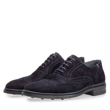 Brogue leather lace shoe