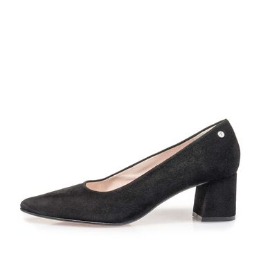 Suede leather pumps