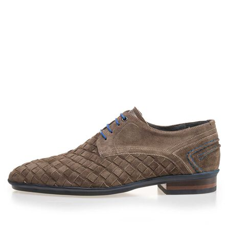 Braided suede leather shoe