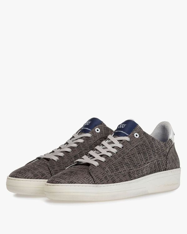 Sneaker with print taupe
