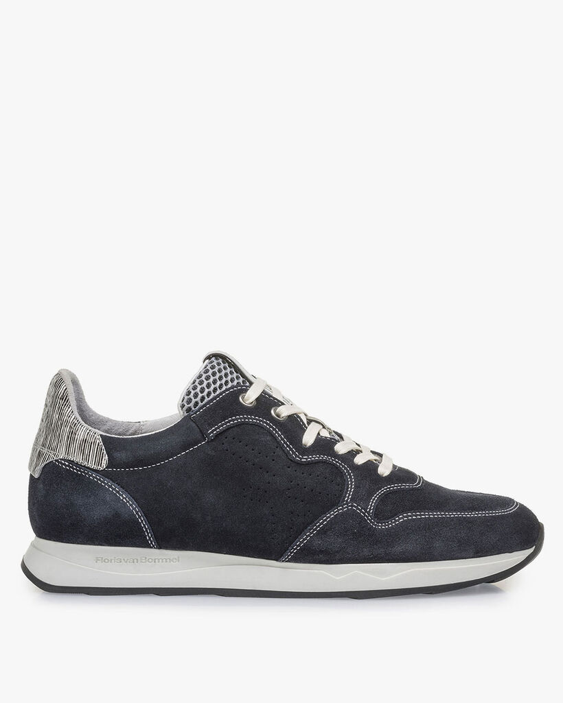 Blue suede leather sneaker