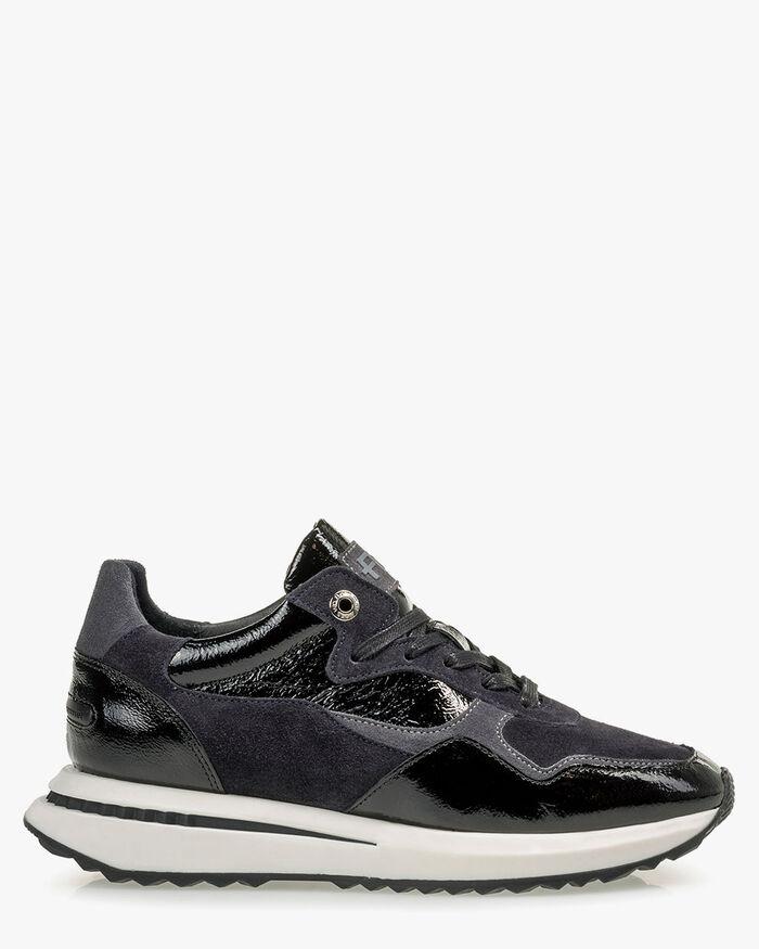 Sneaker patent leather black