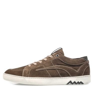 Suede leather sneaker