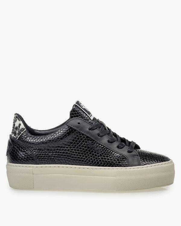 Sneaker calf leather black