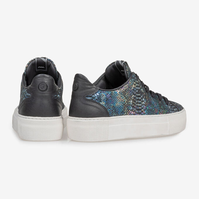 Sneaker snake print multi-colour