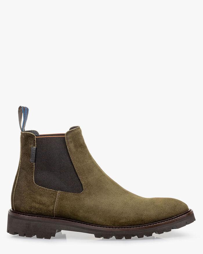 Chelsea boot suede dark green