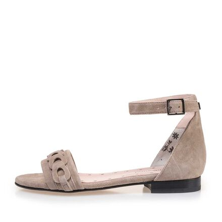 Buckle closure sandal