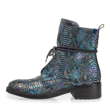 Leather lace boot women