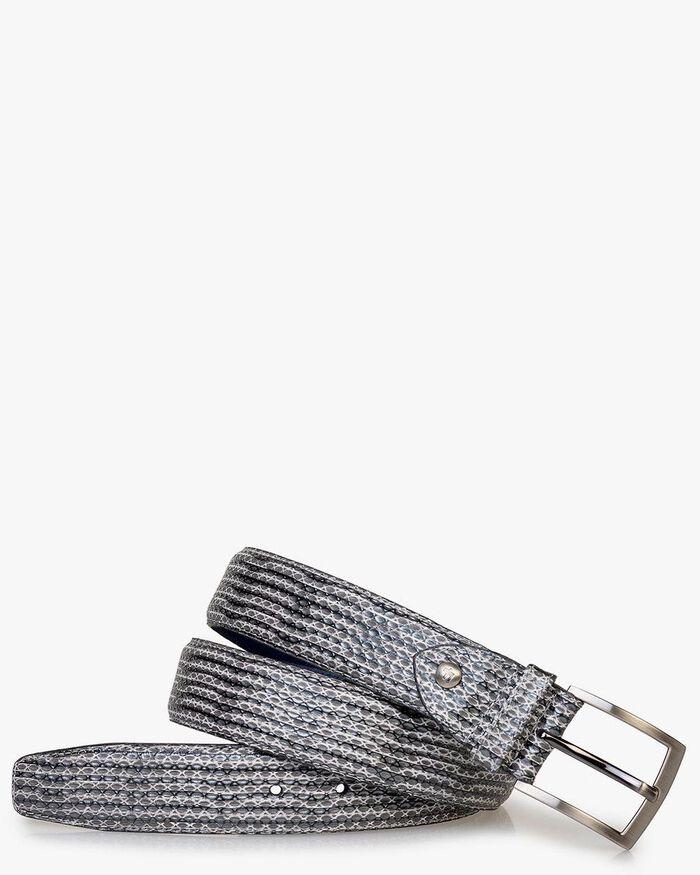 Belt metallic with print grey