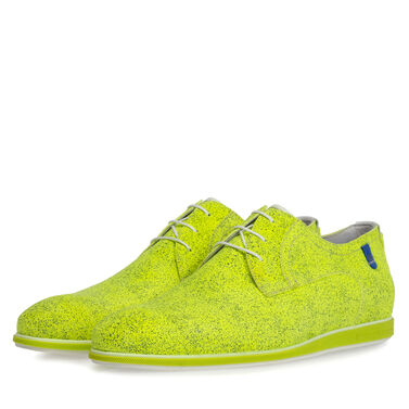 Lace shoe suede leather