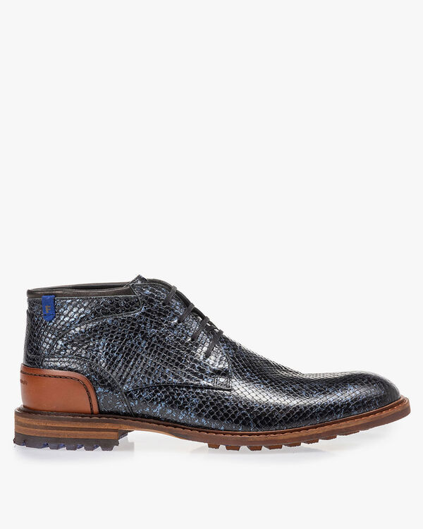 Crepi boot metallic blue