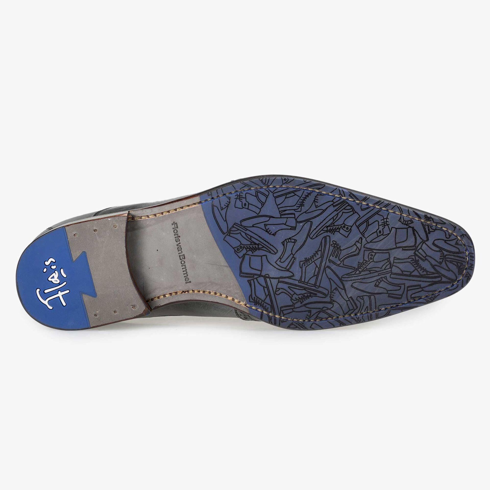 Floris van Bommel men's anthracite grey leather lace shoe