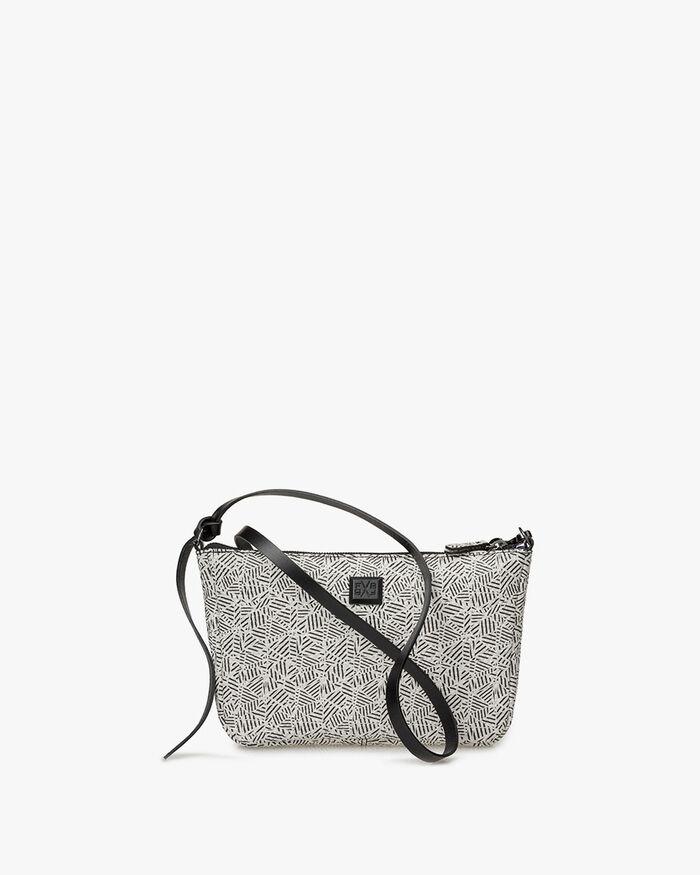 Cross body bag leather black & white