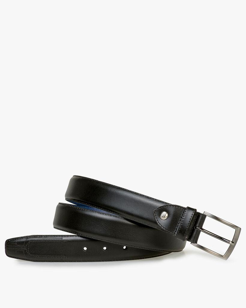 Belt black calf leather
