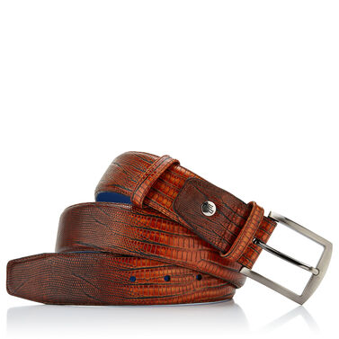 Leather printed belt