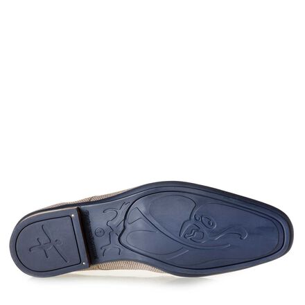 Calf leather lace shoe with print