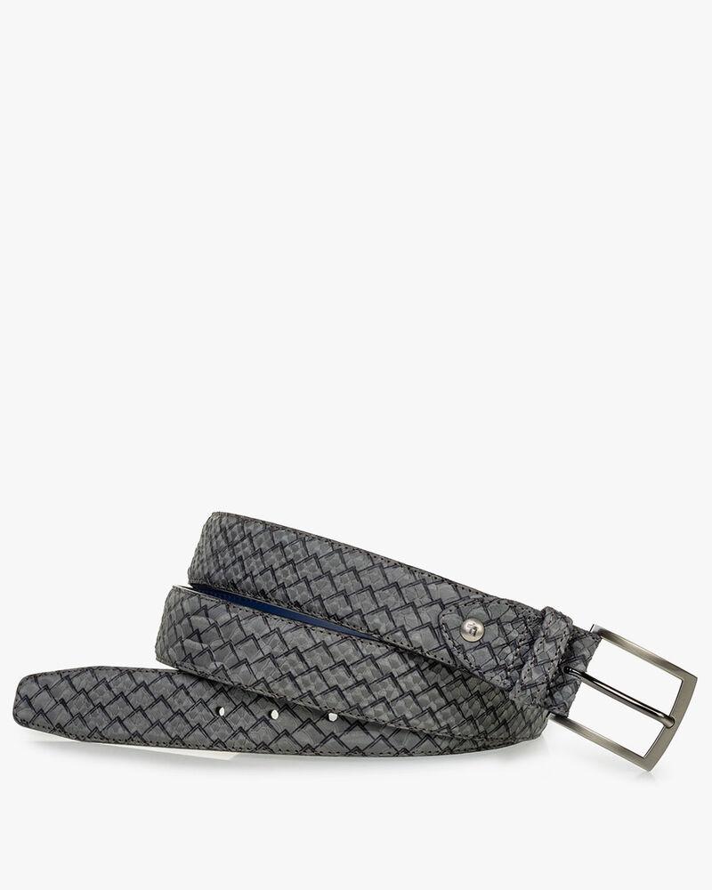 Belt green nubuck leather