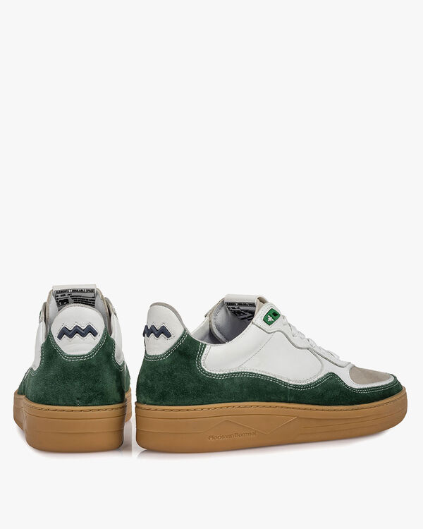 Sneaker suede leather green