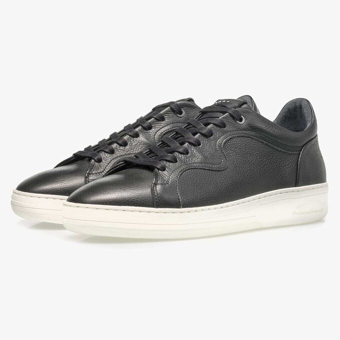 Premium black calf leather sneaker