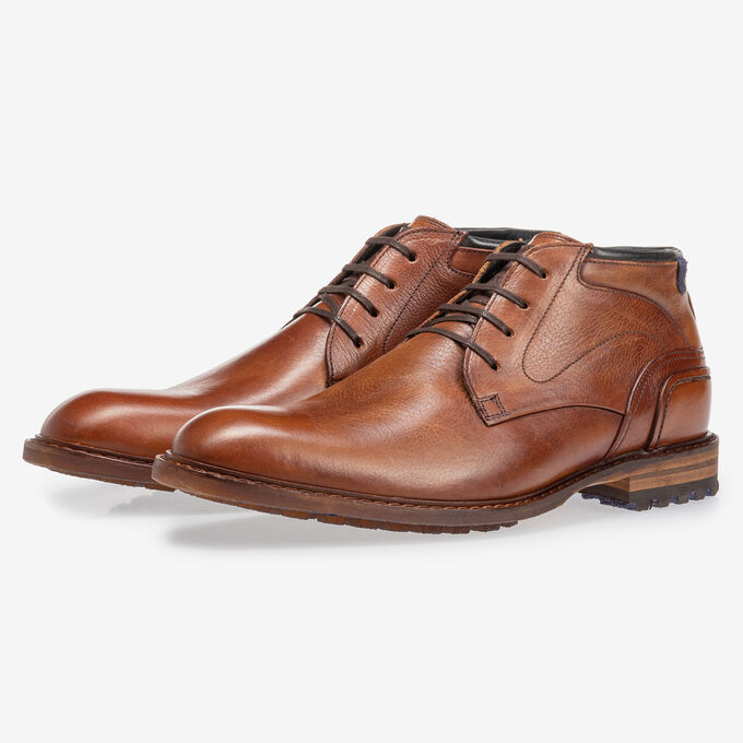 Crepi boot calf leather cognac