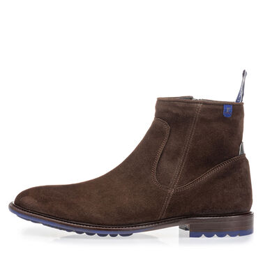 Lambskin lined leather lace boot