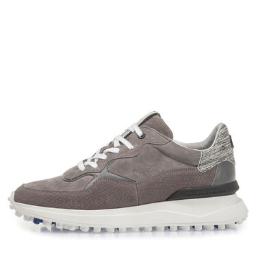 """Leather sneaker with """"Nubby""""-sole"""