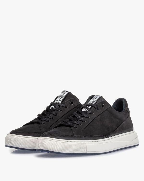 Sneaker nubuck leather black