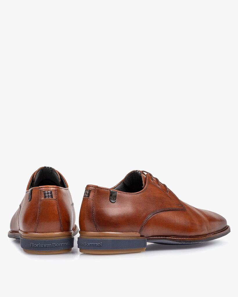 Lace shoe cognac calf leather