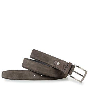 Belt suede leather dark grey