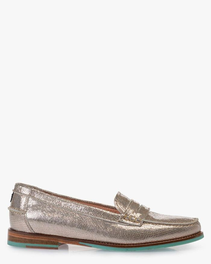Loafer metallic taupe