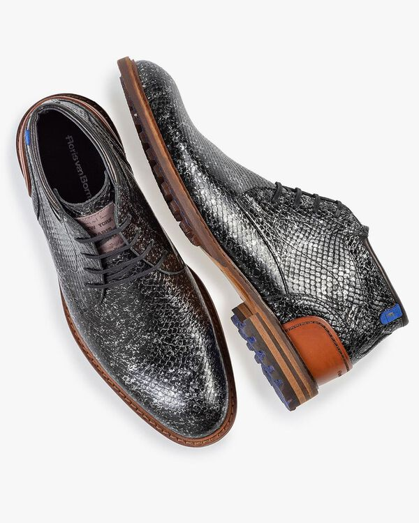 Crepi boot metallic black