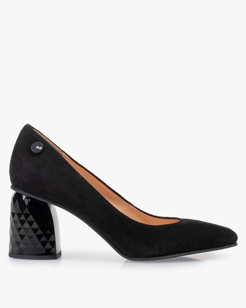 Pumps suede leather black