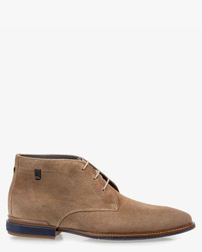Boot suede leather sand-coloured