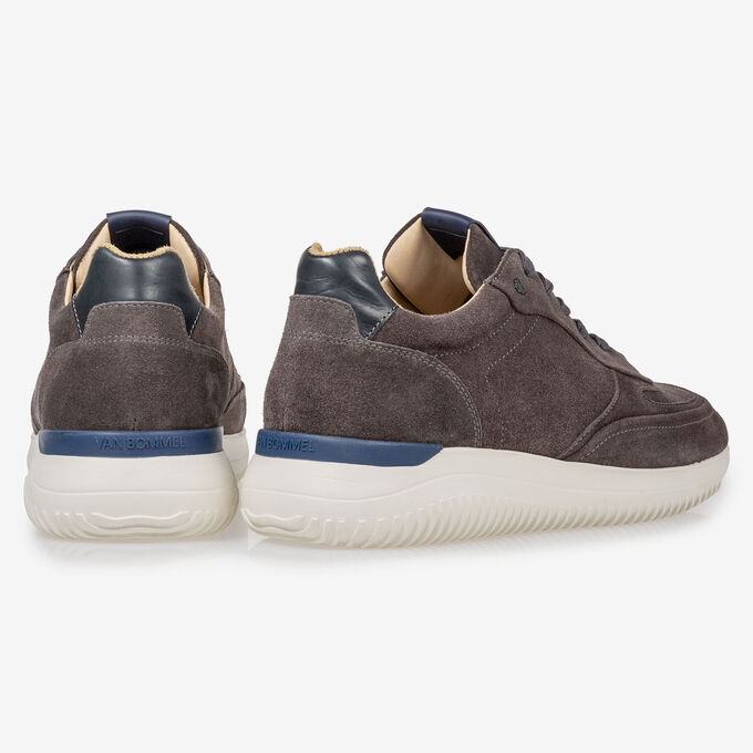 Grey suede leather sneaker