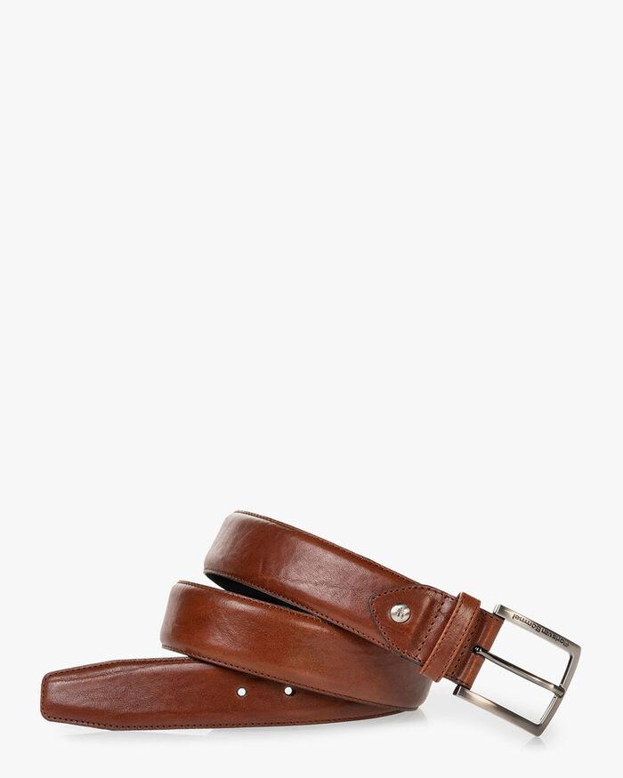 Belt leather cognac