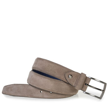 Suede leather belt sand